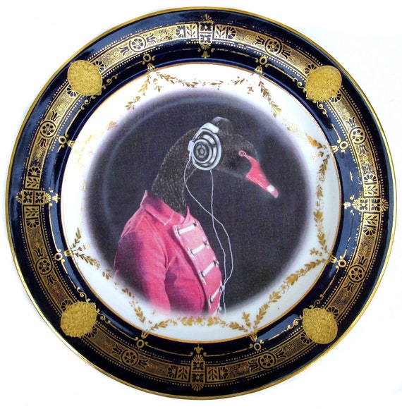 The Band Geek - Altered Antique Plate