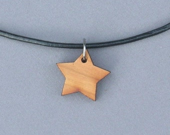Wood Star Necklace