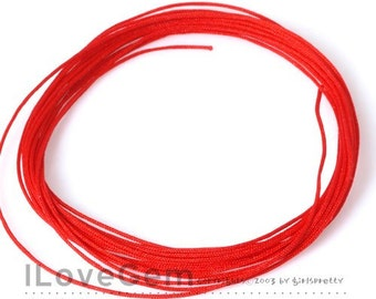 Jewelry String for Macrame, Cord, Red, 0.6mm, 10 meters