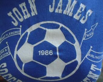 SALE! -  vintage tshirt JOHN JAMES Soccer Tournament 1986 Medium Screen Stars