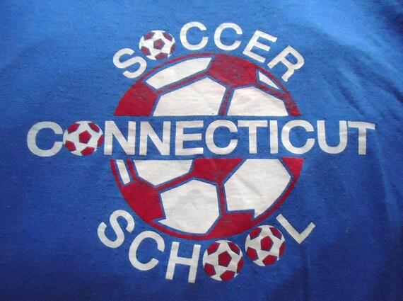 vintage tee Ct SOCCER SCHOOL T Shirt XL Lanzera Connecticut