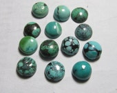 9 mm Gorgeous AAA - High Quality Natural - TIBETIAN TOURQUISE - Old Looking Round Cabochon - 13 pcs