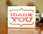 Bold & Bracketed Thank You Cards - Set of 10 on 100% Recycled Paper