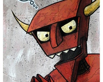 "Robot Devil - 8x10 Art Print - ""The Robot Devil's Waltz"" - Limited Edition Print"