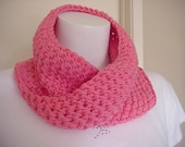 New twisted mobius cowl scarf  very soft yarn  bright color