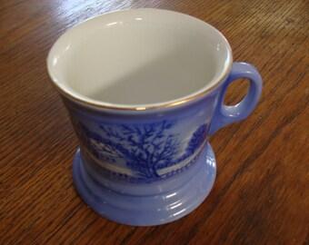 Vintage Currier & Ives Homestead In Winter Mugs