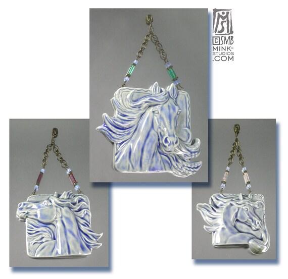 Beautiful Equine Porcelain Ornament Set