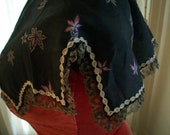 Very old and perfect printed silk lacey collar