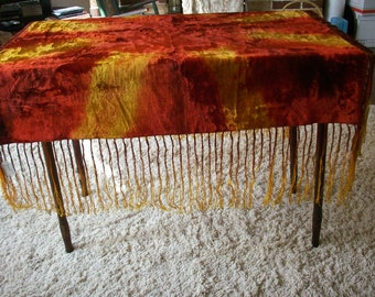 Bohemian colorful piece for use as a table topper or made into a pillow