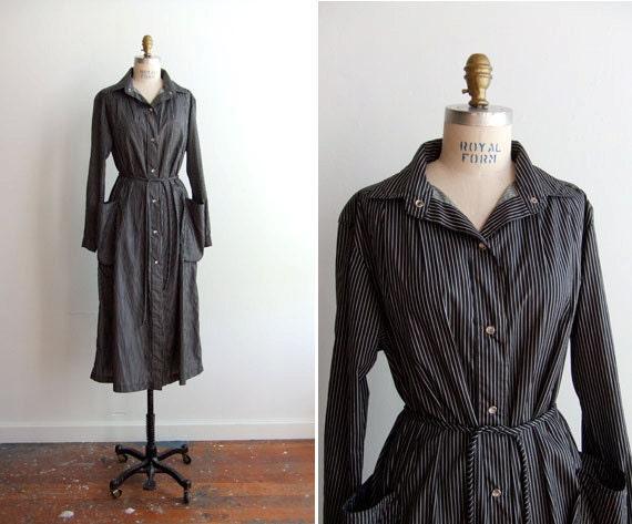 SALE////Vintage 1970s BONNIE CASHIN striped trench coat