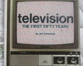 SALE Vintage Book  Television the First 50 Years  1981 Nostalgia