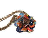 Gift Card Flower Necklace, Recycled Jewelry, Upcycled Eco Friendly: The Flower of Happiness