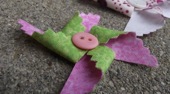 Cute-As-A-Button Pinwheels custom order for Buterfly0625