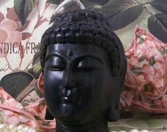 Black Beeswax Buddha Head Candle