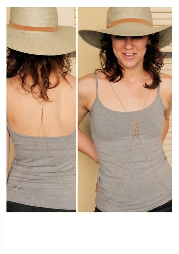 Rose Gold Body Chain - Delicate Reversible Vest