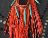 Florescent Neon Fringe Necklace FREE shipping