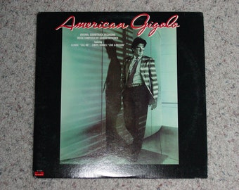 "Vinyl LP Record Album "" American Gigolo "" Original Movie Soundtrack Richard Gere"