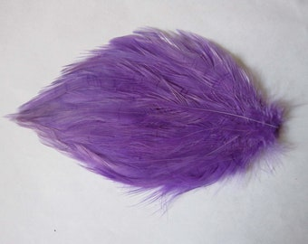Selling Out Rooster Hackle Feather Pad for hair accessories or other projects - LAVENDER