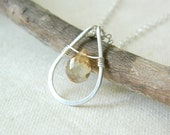 Sundrop Necklace - AAA Champagne Yellow Mystic Quartz -  Sterling Silver - Faceted Stone - Ready to Ship