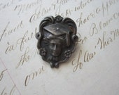 SALE - antique sterling pin - GRADUATE - art nouveau - woman, female - repousse - Gibson Girl