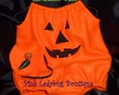 Infant Boy or Girl Jack O Lantern Costume Available in Sizes Newborn to 24 Mos.