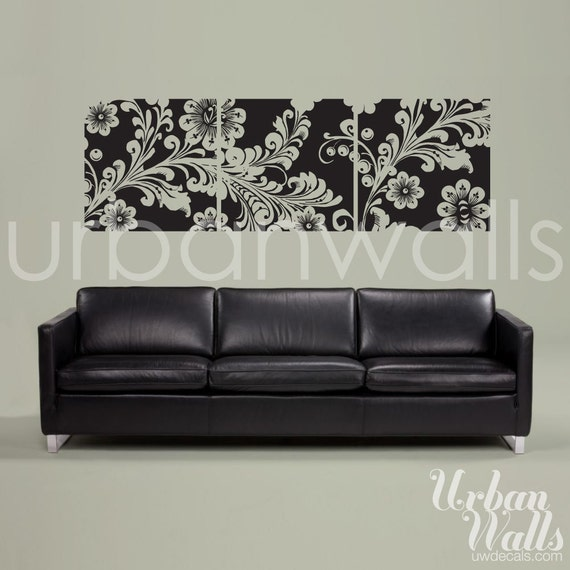 Vinyl Wall Sticker Decal Art - Framed Flowers