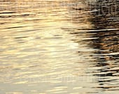 Golden Glow, Water Photo Print,The Beautiful Willamette River Oregon as the Sunsets reflecting across the rippling water, 8x12,12x18,16 x 24