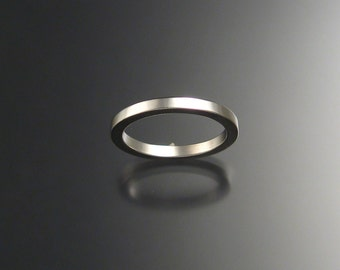Sterling Silver Square Wedding band, any size