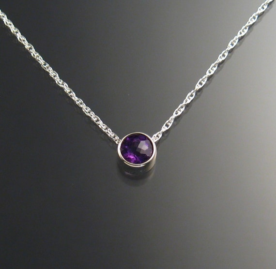 Amethyst Necklace, Sterling Silver