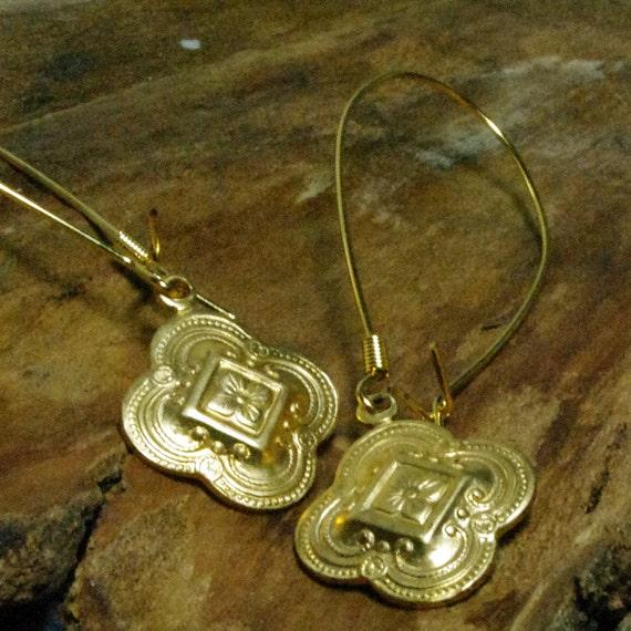 Medallion Charm Drop Earrings