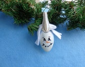 Snowman On Spoon Hand-Painted Christmas Ornament