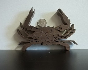 Crab Puzzle Wooden American Hardwood