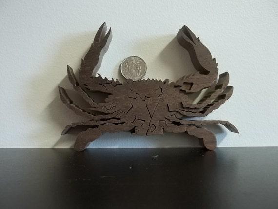 Crab Puzzle Wooden American Hardwood