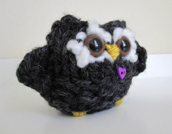 Soot Hoot Knitted Owl