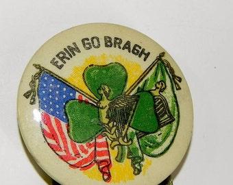 Vintage 1940s Erin Go Braugh St. Patrick Pin - on sale