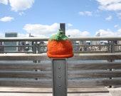Pumpkin Hat - warm & cozy hand knit baby/toddler