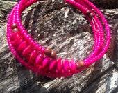 Sweet Pink Wire Wrapped Bracelet
