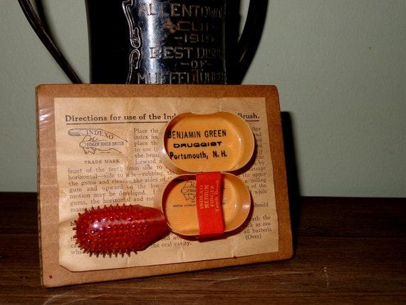 Rare Dental Advertising INDEXO Tooth Brush with Ephemera FREE Shipping