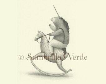 Little Unicorn - Giclée Print