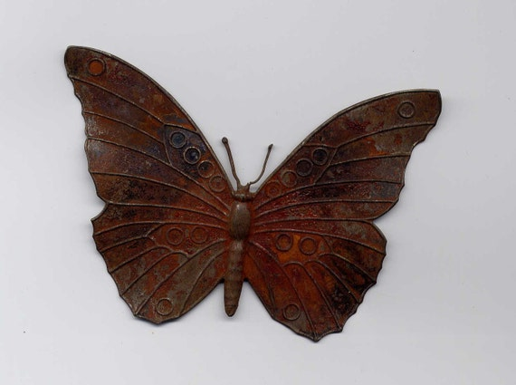 Large Rusted Steel Butterfly