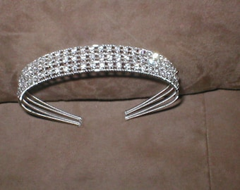 Magnificent Rhinestone HEADBAND Bridal Headpiece