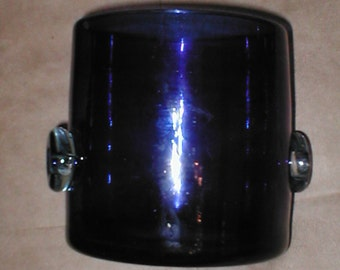Vintage Cobalt Glass Ice-Bucket