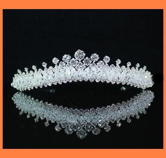 Magnificent  ALL-CRYSTAL Bridal Tiara Crown