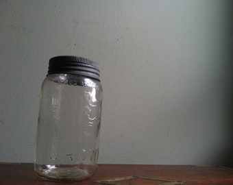 Mason Jar - Crown with Zinc Band - Made in Canada