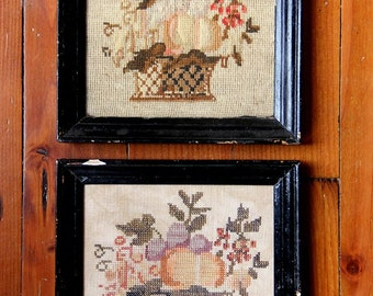 French Harvest Basket (an Antique Reproduction) : Cross Stitch Pattern by Heartstring Samplery