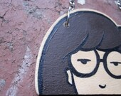 Wooden Daria Necklace Handmade Katherine and Punky