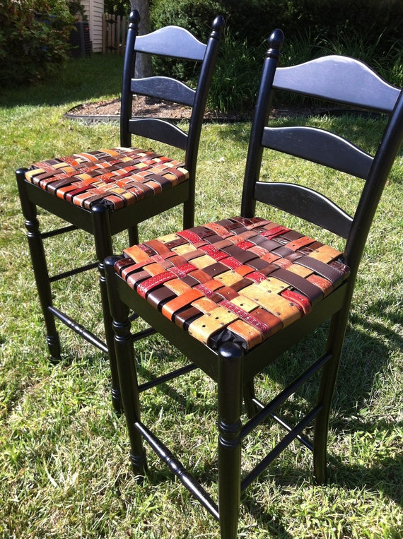 items similar to beltart black bar stool pair with woven