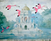 Bourgeois Flamingos 8.5 x 11  Print