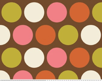 Riley Blake Fabric, Indian Summer Collection, Dots in Brown, 1 Yard