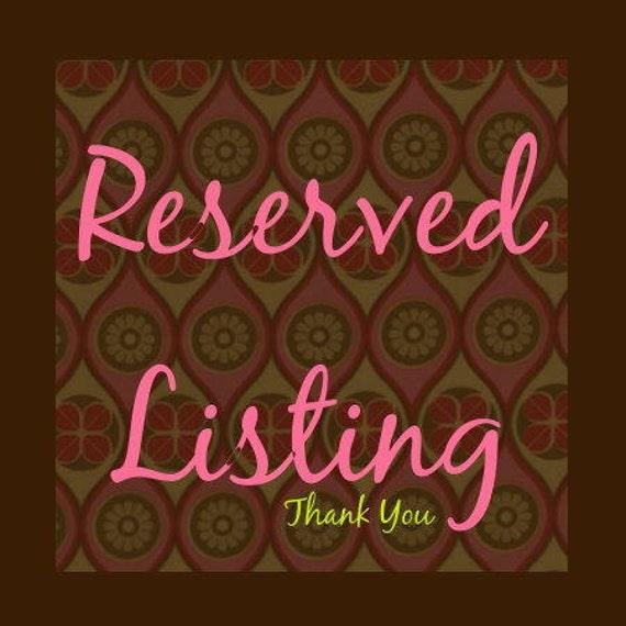Reserved Listing for Amanda